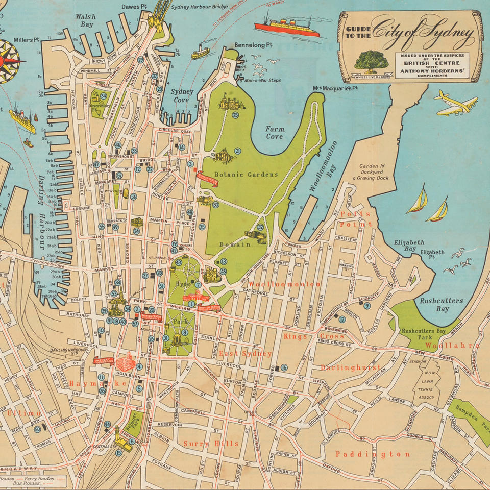 Mapping the Pacific - Accommodation and getting around Sydney