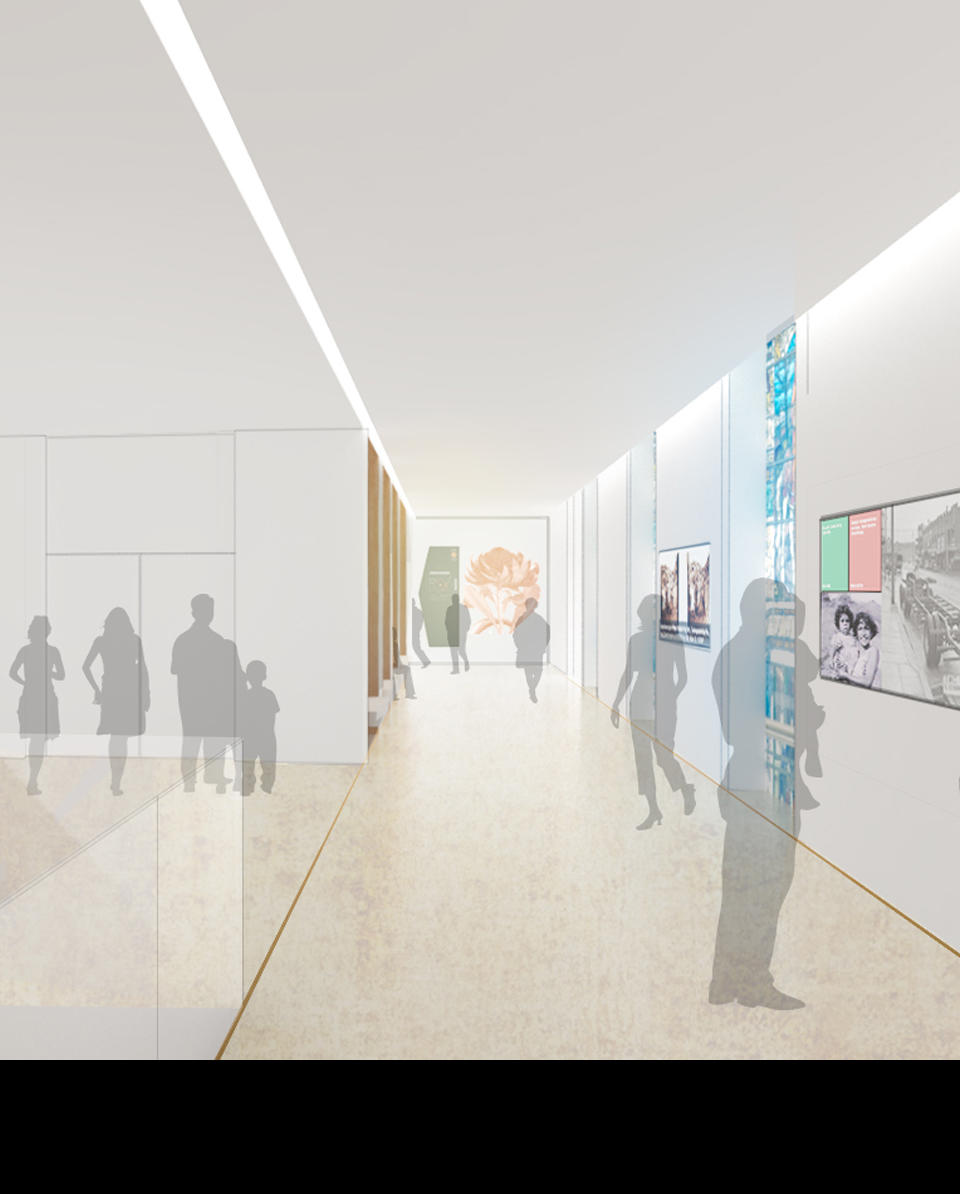 Artist's impression of circulation galleries. Source: Hassell
