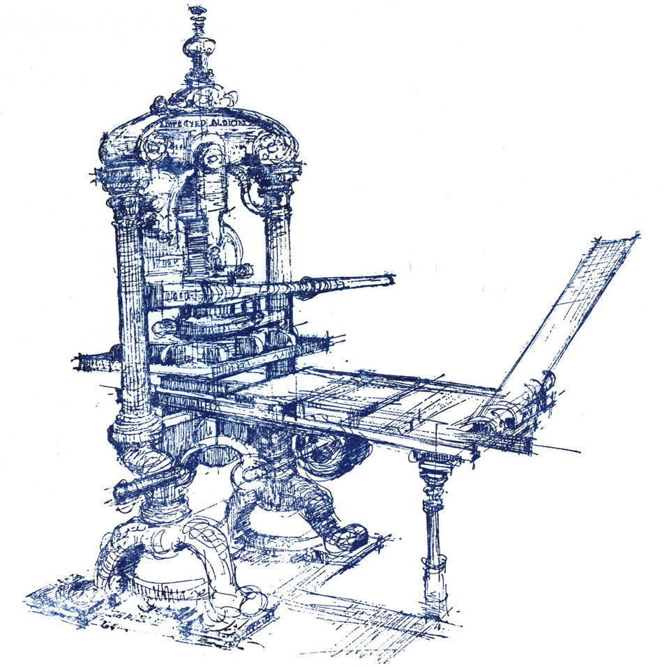 A sketch of the Piscator press.