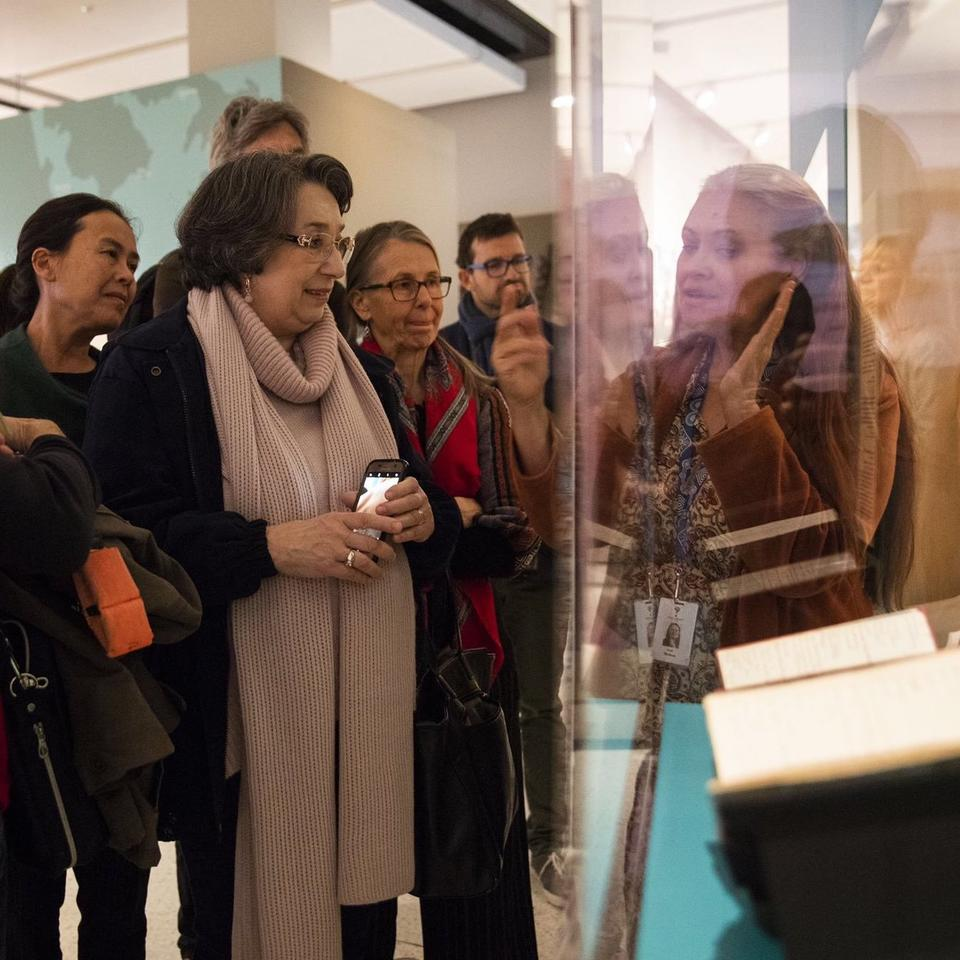 Curator led tour of Living Language exhibition