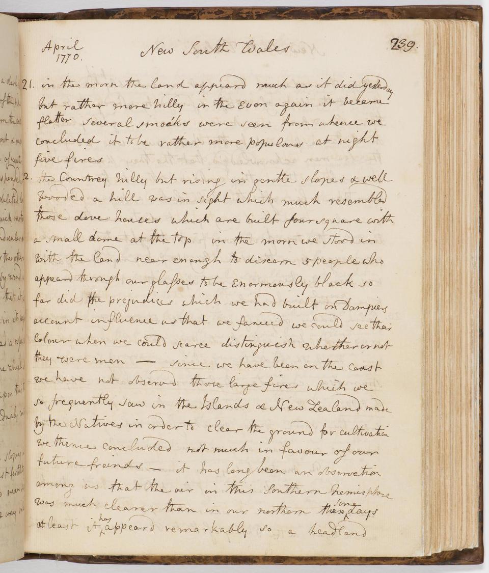 Sir Joseph Banks' journal