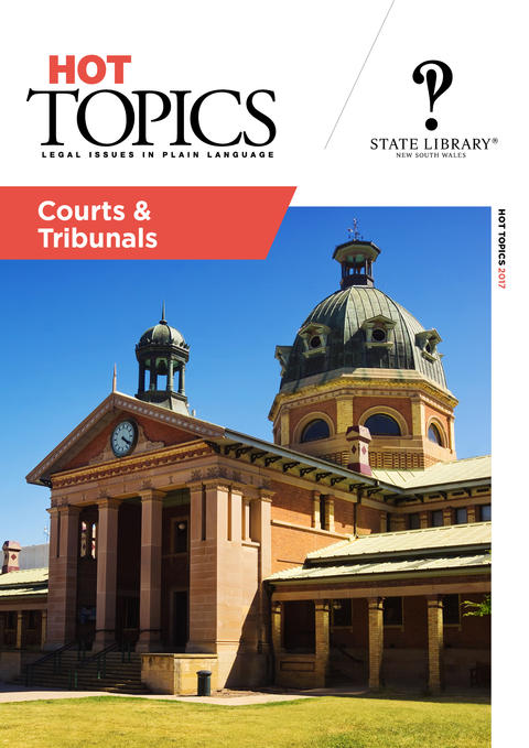 Cover image of Courts and Tribunals Hot Topics, photo of court house