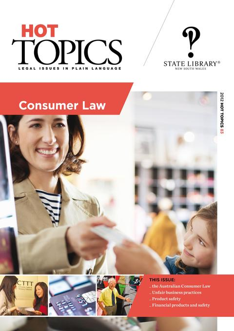 Cover for Hot Topics Consumer Law