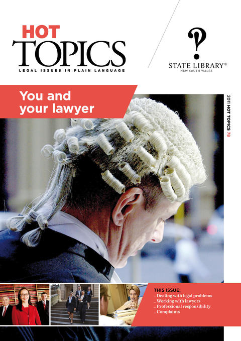 Cover image for Hot Topics You and Your Lawyer