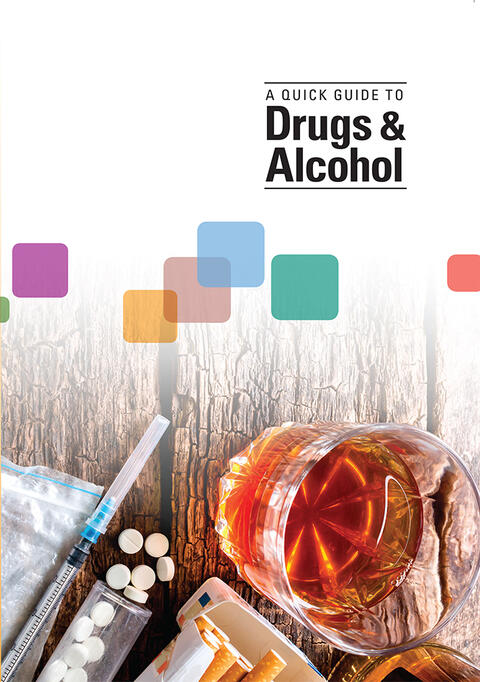 Book cover, Quick guide to drugs and alcohol