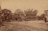Double decker steam tram, two carriages