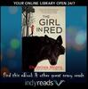 The Girl in Red book cover with indyreads promotion