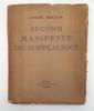 Second Manifeste du surréalisme, by André Breton, Paris Simon Kra, 1930,