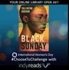 Black Sunday book cover with indyreads promotion