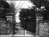 Sandstone entry gates to Hawthornden, 6 Roslyndale Road, Edgecliff