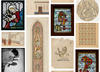 Screenshot of search results displaying stained glass patterns and artworks