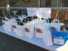 Drug info showbags on display