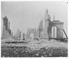 Garden Palace ruins after fire, taken from Garden Palace Grounds, 1882