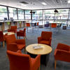 Internal library space with different styles of seating and tables