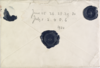 Image of envelope and wax seal with spider design used by the Prince of Wales