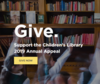 Screenshot of the Library's 2019 Foundation Appeal campaign.