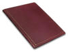 Thin bound red leather book.