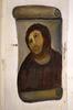 The attempted restoration by Cecilia Giménez of the fresco Ecce Homoby Elías García Martínez, source: Cesar Manso/AFP/Getty Images