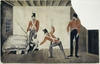 The arrest of Governor Bligh, 1808, Artist unknown, watercolour drawing, Safe 4/5