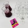 Jug of grape mocktail drink and glasses