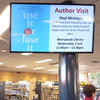 Digital sign in a library