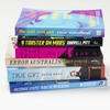Russell Prize 2017 shortlisted books in a stack