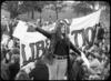 Gabrielle Antolovich, CAMP Sex Lib Week Demo, Hyde Park, Sydney, NSW, July 1972, film still from footage shot by ABC. Peter De Waal Papers. Reproduced courtesy Gabrielle Antolovich and the Australian Broadcasting Corporation – Library Sales © 1972 ABC