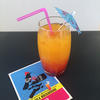 Mocktail made from orange juice and grenadine