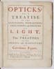 Image of the title page of Opticks