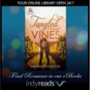 romance tangled vines couple in a vineyard book cover