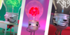 Animations of lightbulbs with faces