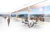 Artist's impression of proposed rooftop restaurant/function space (internal view). Source: Hassell