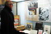 Dr John Vallance viewing the Spike Milligan exhibition