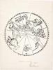 Imagines coeli meridionales, printed 1781 from blocks created in 1515, by Johannes Stabius, cartographer, Albrecht Dürer, engraver