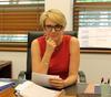 Tanya Pliberseck MP at her desk