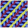 Coloured pattern containing red, blue and yellow shapes