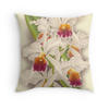 Orchid print throw pillow