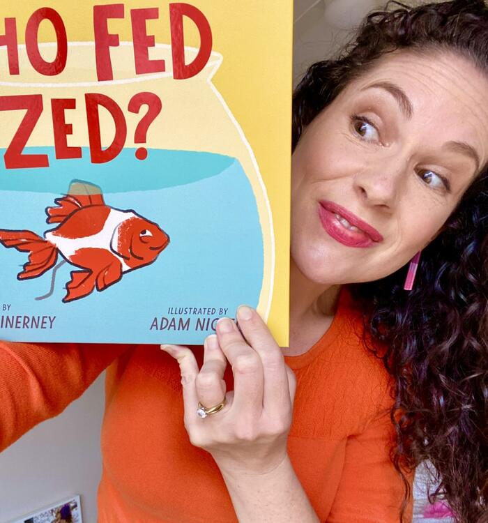 """Amelia McInerney and her book, """"Who Fed Zed?"""""""