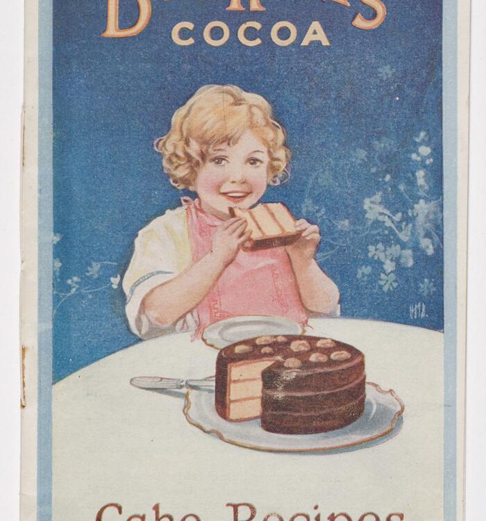 Child eating cake