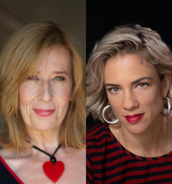 headshot of Kathryn Heyman and Jenny Valentish