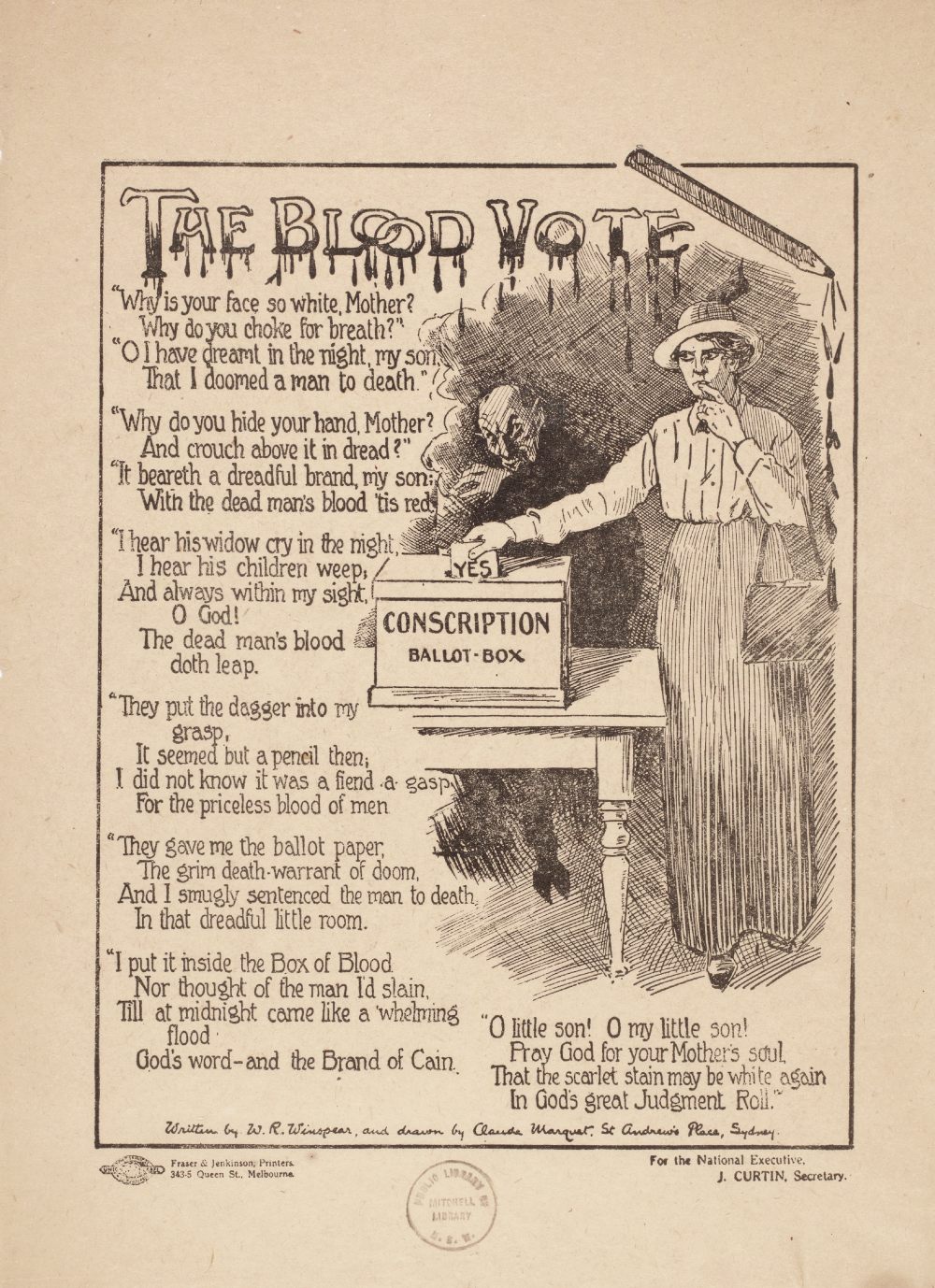 The 'Blood Vote' poster