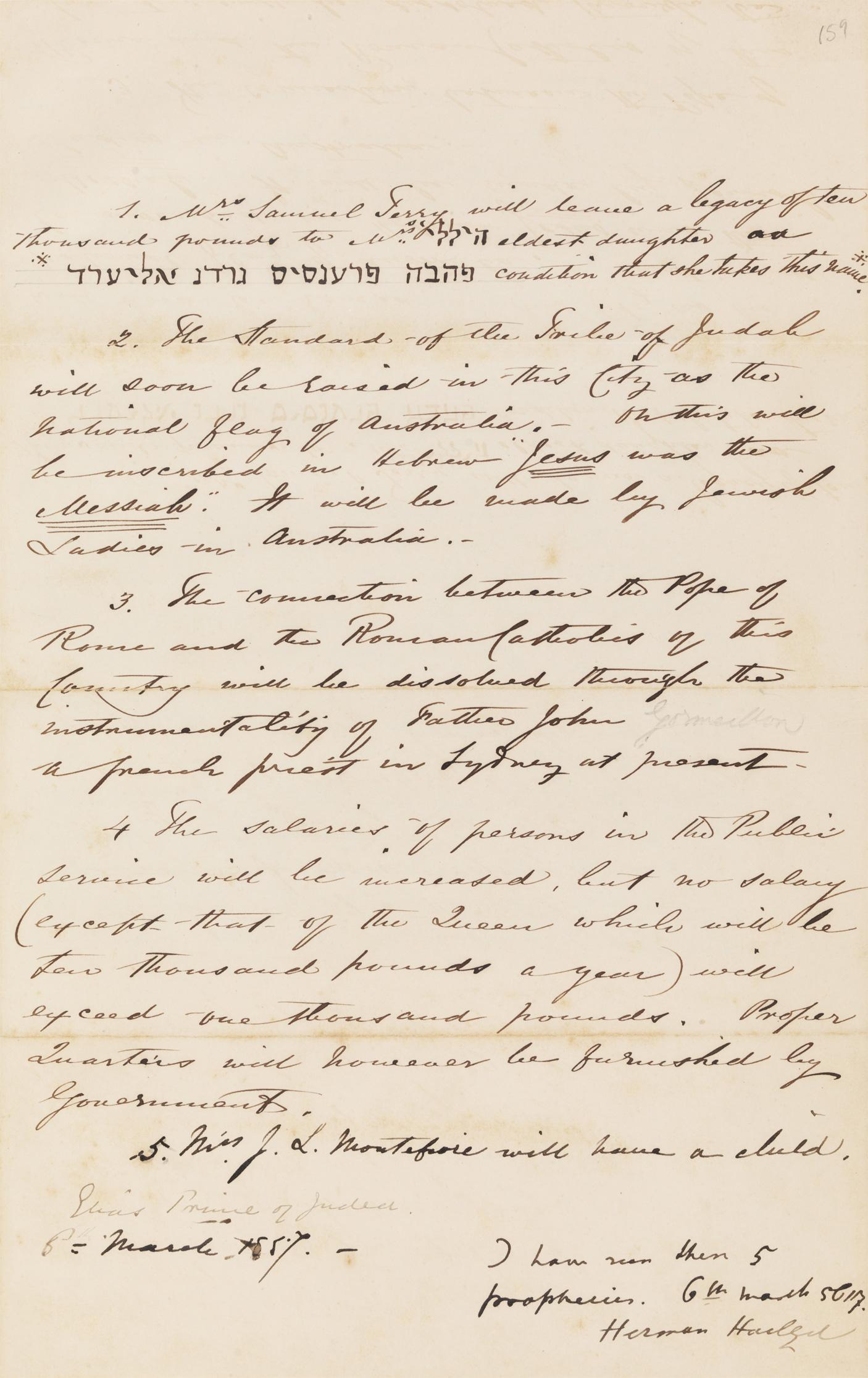 An Address to the Jewish Ladies, Sydney, 1854