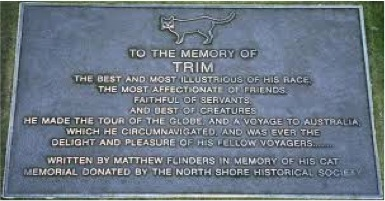 Memorial plaque to Trim found at the State Library of New South Wales