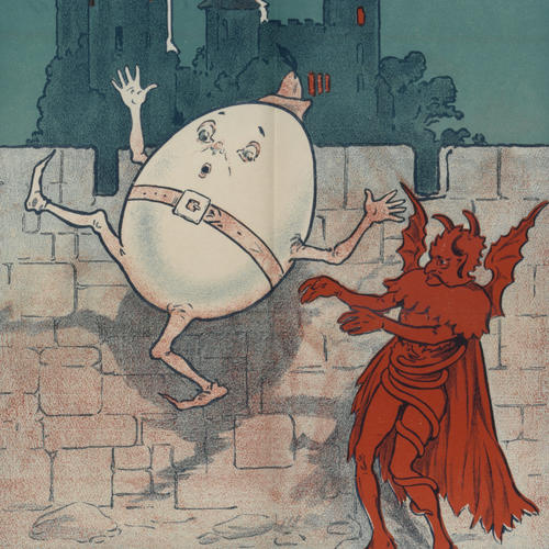 Humpty Dumpty, poster detail