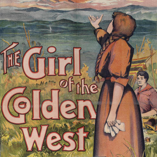 The Girl of the Golden West, poster detail