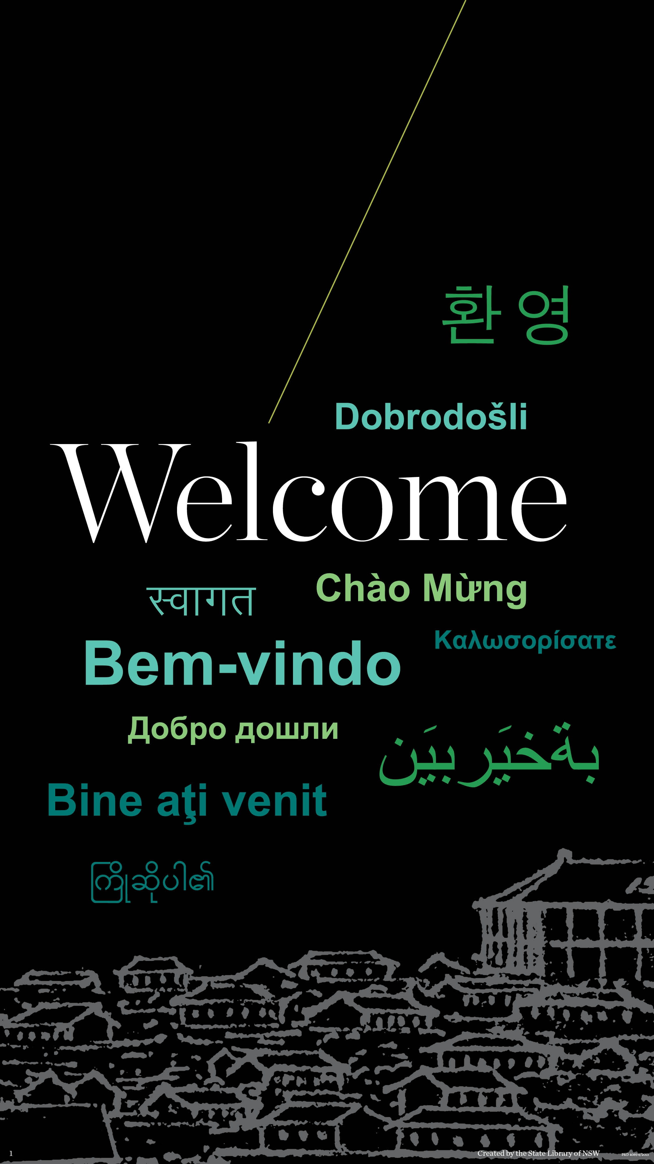 welcome sign in languages