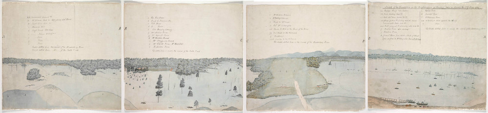 Sketch of the Inundation in the Neighbourhood of Windsor taken on Sunday the 2nd of June 1816, By unknown, State Library of New South Wales, PX*D 264