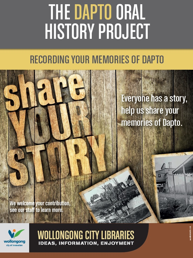 Wollongong City Libraries oral history promotion